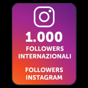 1000 FOLLOWERS INSTAGRAM INTERNAZIONALI