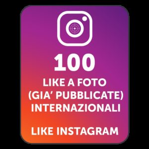 100 LIKES INSTAGRAM INTERNAZIONALI