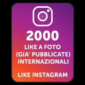 2000 LIKES INSTAGRAM INTERNAZIONALI