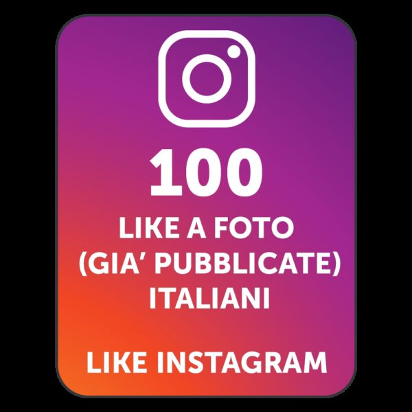 100 LIKES INSTAGRAM ITALIANI