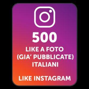 500 LIKES INSTAGRAM ITALIANI
