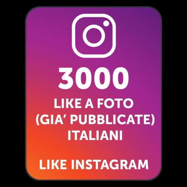 3000 LIKES INSTAGRAM ITALIANI