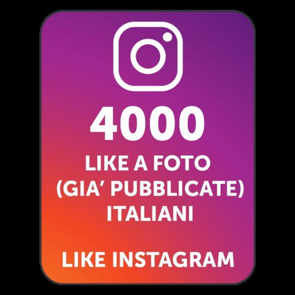 4000 LIKES INSTAGRAM ITALIANI