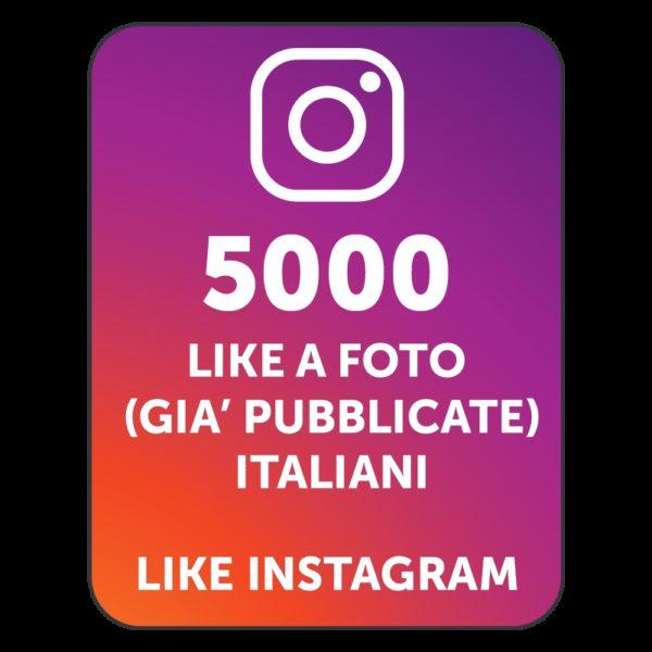 5000 LIKES INSTAGRAM ITALIANI