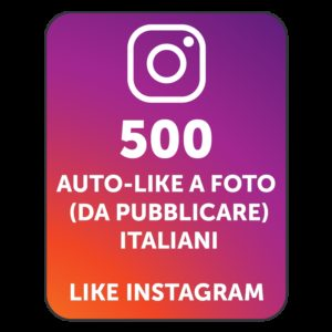 500 AUTOLIKE INSTAGRAM ITALIANI