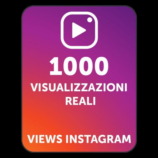 1000 VISUALIZZAZIONI VIDEO INSTAGRAM
