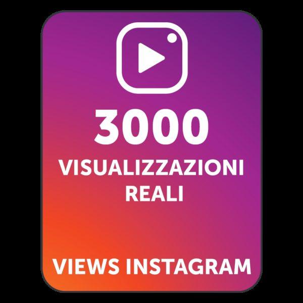 3000 VISUALIZZAZIONI VIDEO INSTAGRAM