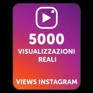 5000 VISUALIZZAZIONI VIDEO INSTAGRAM