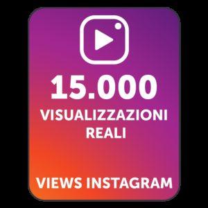 15.000 VISUALIZZAZIONI VIDEO INSTAGRAM