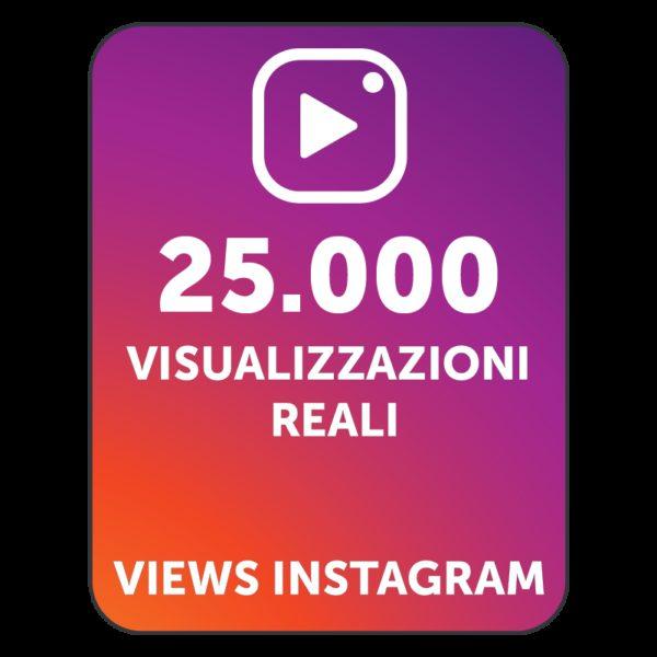 25.000 VISUALIZZAZIONI VIDEO INSTAGRAM