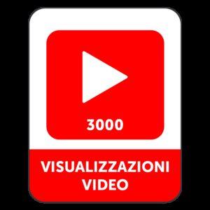 3.000 VISUALIZZAZIONI VIDEO YOUTUBE