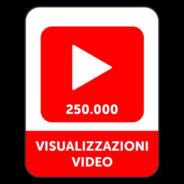 250.000 VISUALIZZAZIONI VIDEO YOUTUBE