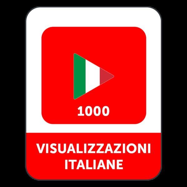 1.000 VISUALIZZAZIONI VIDEO YOUTUBE ITALIANE