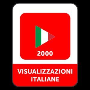 2.000 VISUALIZZAZIONI VIDEO YOUTUBE ITALIANE