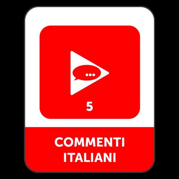 5 COMMENTI ITALIANI YOUTUBE