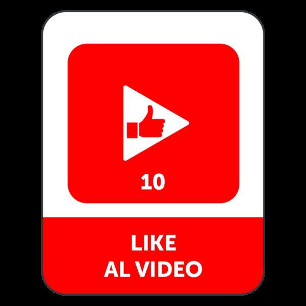 10 LIKE VIDEO YOUTUBE