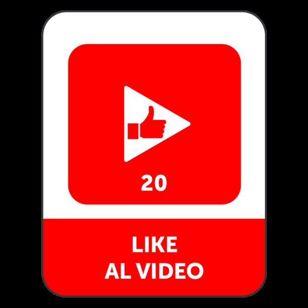 20 LIKE VIDEO YOUTUBE