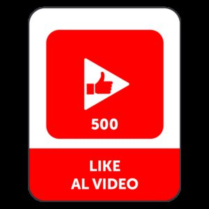 500 LIKE VIDEO YOUTUBE