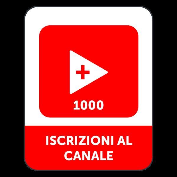 1.000 ISCRIZIONI CANALE YOUTUBE