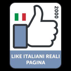 2000 LIKES ITALIANI