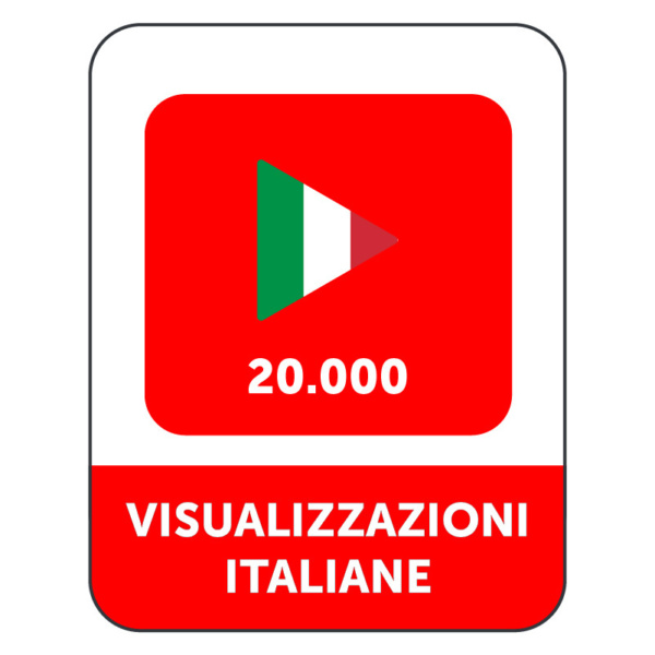 20.000 VISUALIZZAZIONI VIDEO YOUTUBE ITALIANE