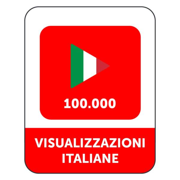 100.000 VISUALIZZAZIONI VIDEO YOUTUBE ITALIANE