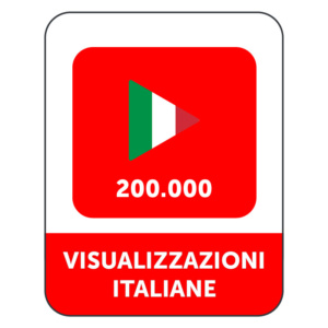 200.000 VISUALIZZAZIONI VIDEO YOUTUBE ITALIANE