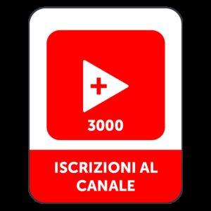 3.000 ISCRIZIONI CANALE YOUTUBE