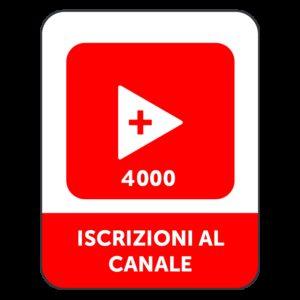 4.000 ISCRIZIONI CANALE YOUTUBE