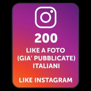 200 LIKES INSTAGRAM ITALIANI