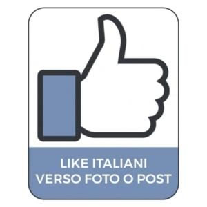 LIKES ITALIANI SU FOTO O POST