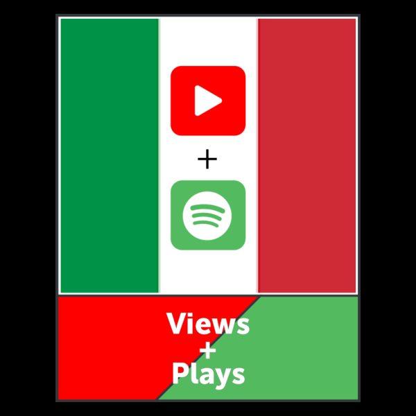 ESCLUSIVO! Views Italiane Youtube + Plays Italiani Spotify - HQ